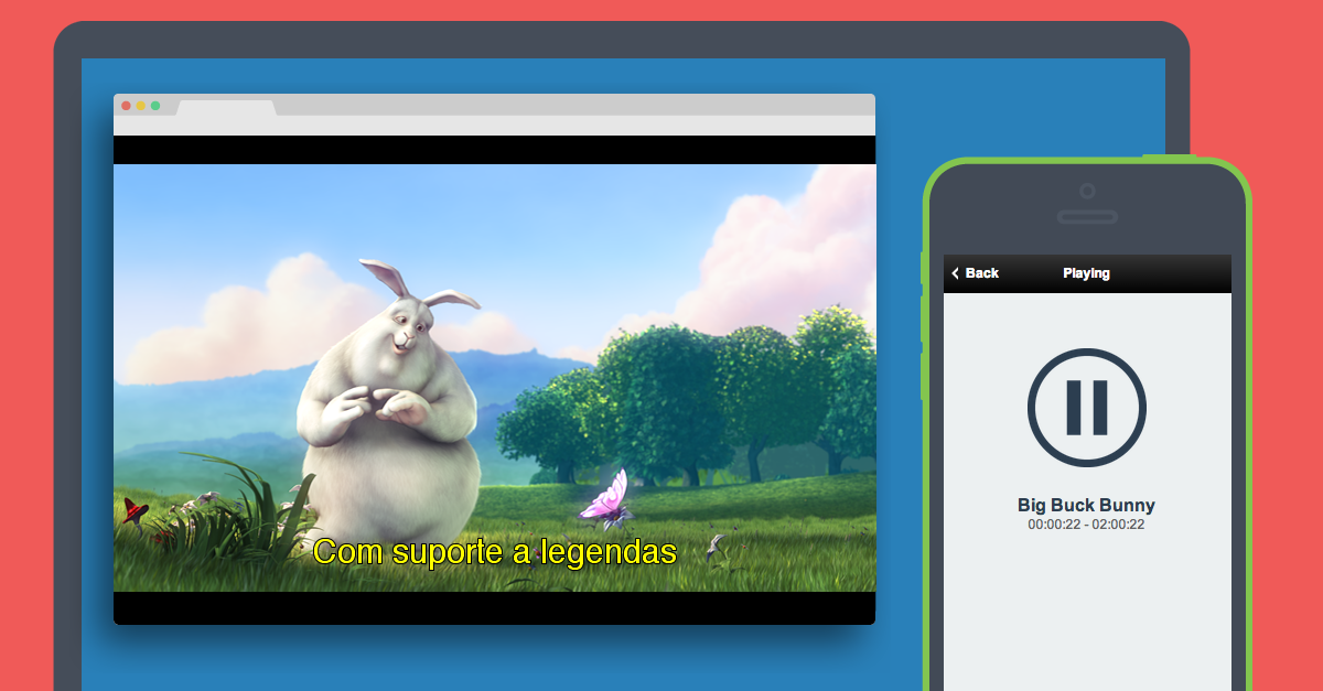 cast player - Plays local videos on Chromecast (with subtitles) and
